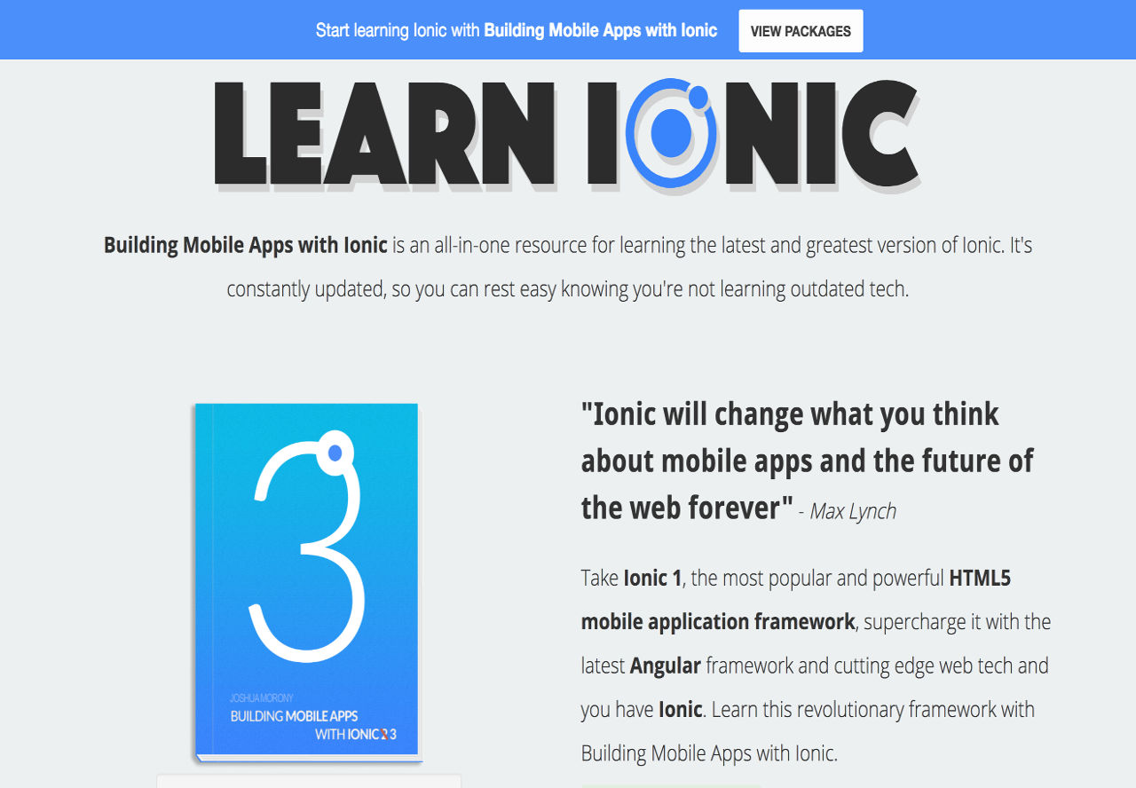Build Mobile Apps Using Ionic Book by Josh Morony