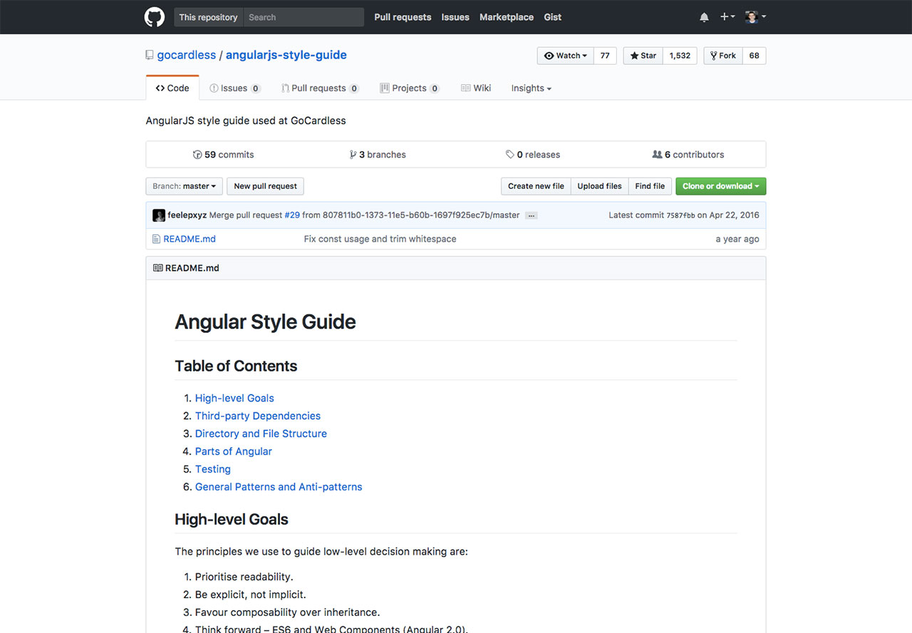 Angular JS Style Guide by GoCardless