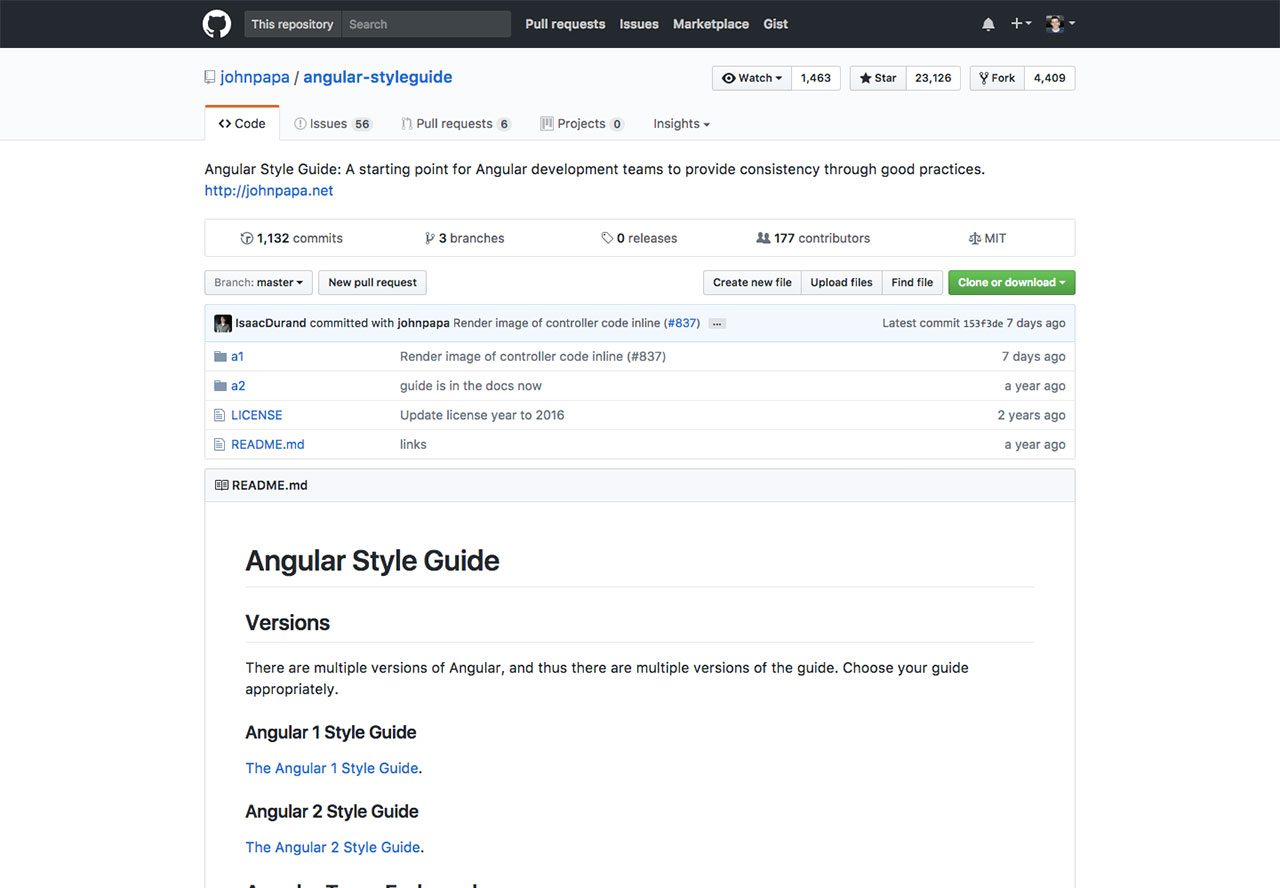 Angular Style Guide by John Papa