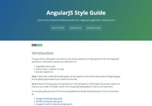 AngularJS Style Guide by Minko Gechev