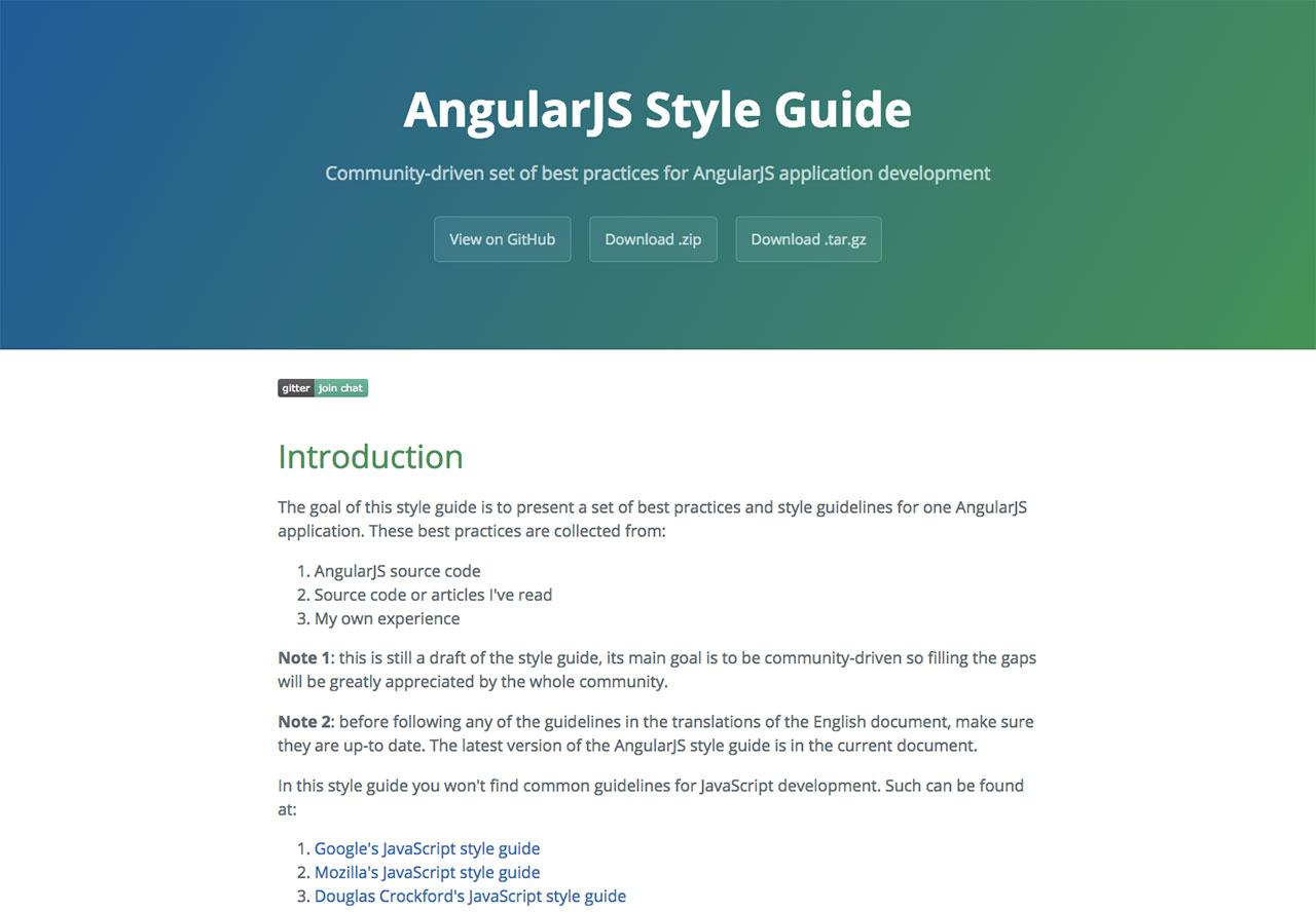 AngularJS Style Guide by Minko Gechev