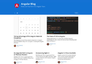 Official Angular Blog